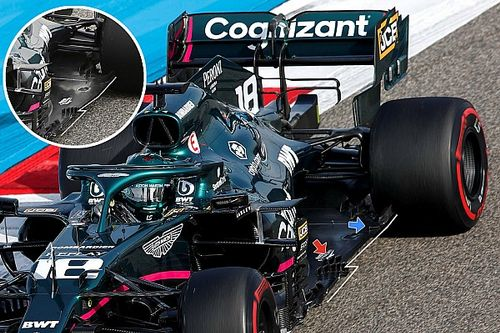 Aston Martin revamps floor amid low rake rules hit