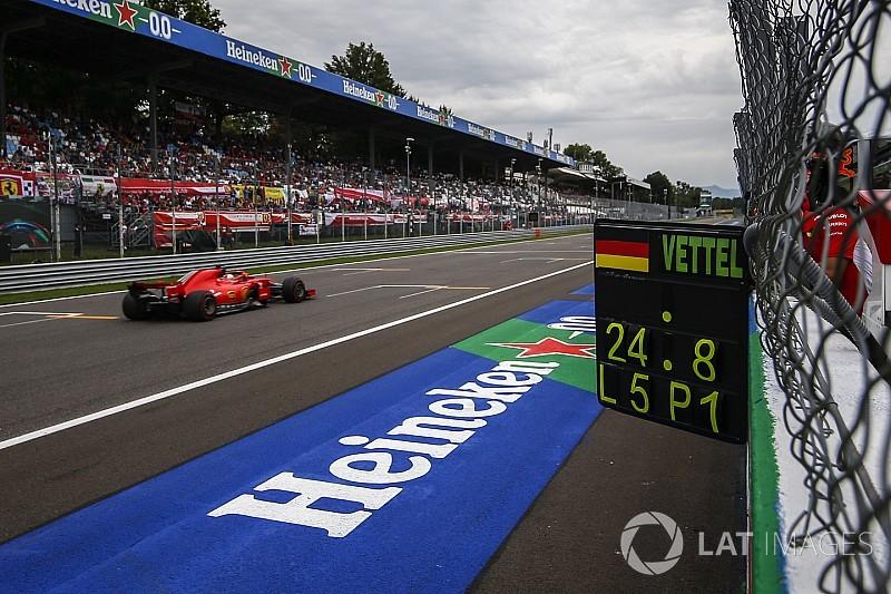 Formel 1 Monza 2018: Sebastian Vettel bleibt auf Pole-Kurs