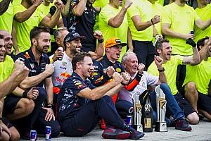 """Formule 1 Nieuws Horner over Verstappen: """"Grote coureurs schitteren op grote momenten"""""""