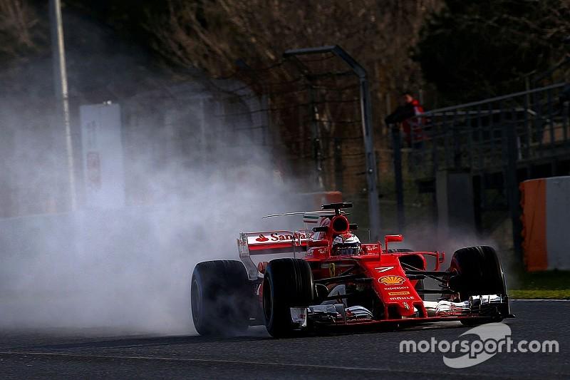 Raikkonen encabeza la mañana de Barcelona con pista mojada
