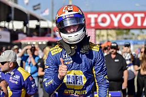 IndyCar Qualifying report Long Beach IndyCar: Brilliant Rossi beats the Penskes to pole