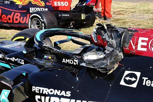 Cómo el Halo, capaz de soportar 12.000 kg, salvó a Hamilton en Monza