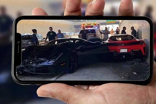 Három Ferrari karambolját rögzítette a kamera Philadelphiában