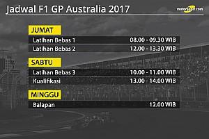 Formula 1 Special feature Jadwal lengkap F1 GP Australia 2017