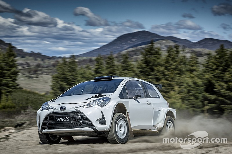 Harry Bates shakes down AP4 Yaris in Australia