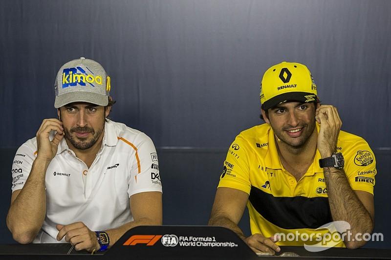 McLaren no niega su interés por juntar a Sainz y Alonso en 2019