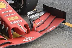 Ali anteriori a confronto: l'idea Ferrari in contrasto con il concetto Mercedes e Red Bull