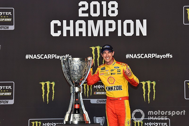 Joey Logano's NASCAR Cup championship trophy is going on tour