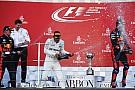 Hamilton pezsgő-onboard: szórta rendesen a nedűt
