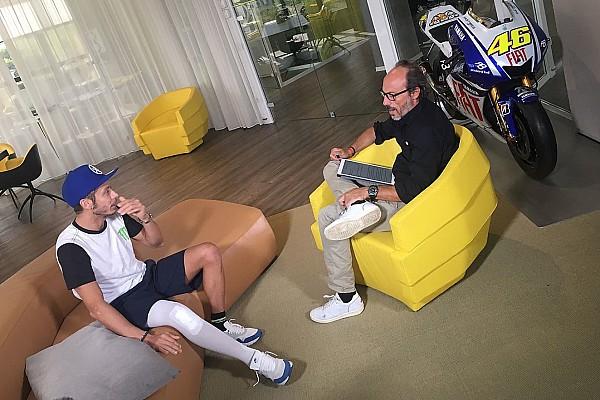 MotoGP News Valentino Rossi dreht 20 Runden in Misano und macht seinen Fans Mut