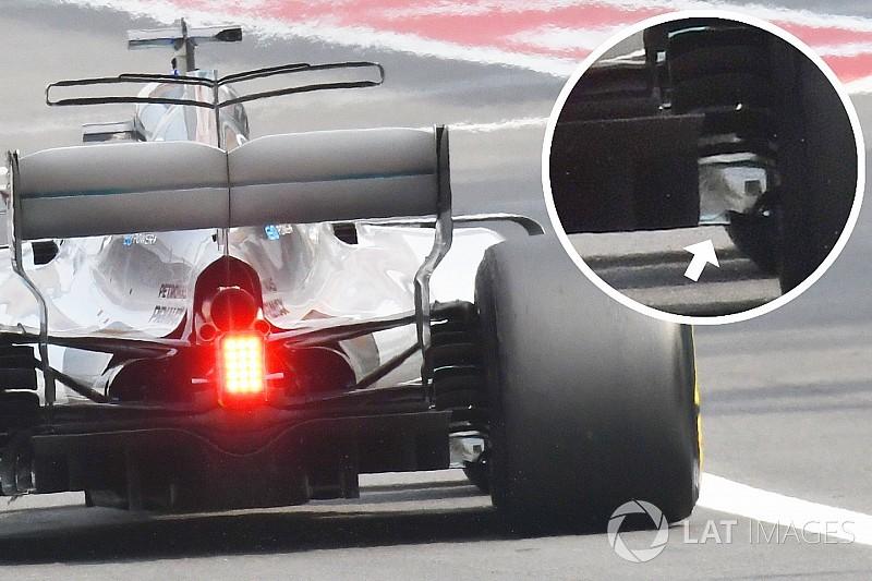 F1-Technik: Der kaputte Diffusor am Mercedes von Lewis Hamilton
