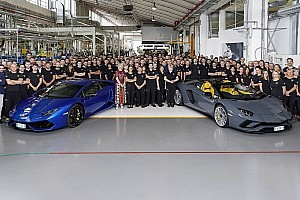 Automotive Breaking news Lamborghini celebrates making 11,000th Huracan, 8,000th Aventador