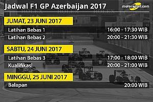 Formula 1 Special feature Jadwal lengkap F1 GP Azerbaijan 2017