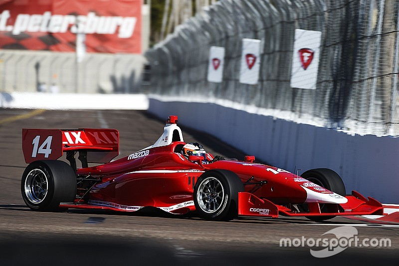 Rosenqvist tops first Indy Lights practice