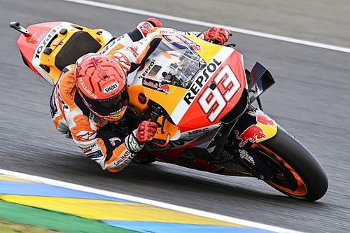 EL3 - Márquez retrouve la première place sur une piste humide