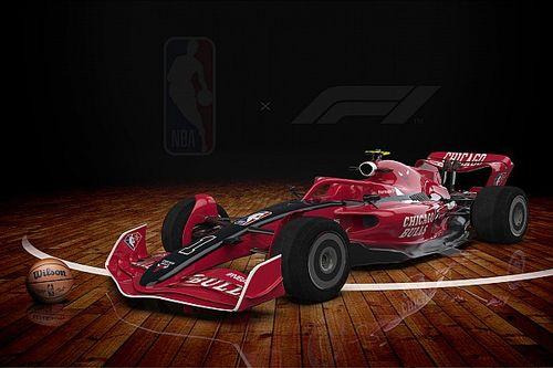 """F1がバスケ最高峰NBAと夢のコラボ! F1ドライバーによる""""フリースロー大会""""も実施"""