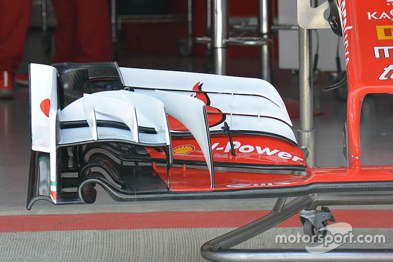 フェラーリがソチに持ち込んだ新型フロントウイング