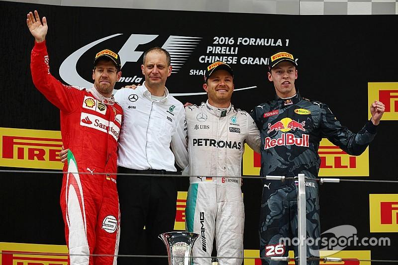 中国大奖赛正赛:罗斯伯格乱中取胜,赢得三连冠
