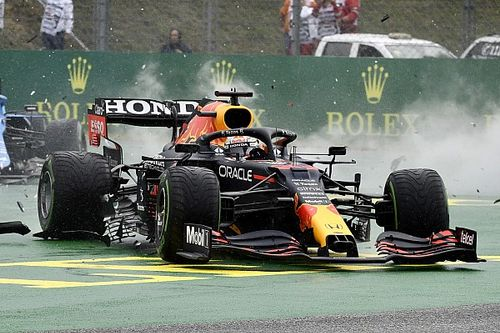 The images that reveal Verstappen's missing half car