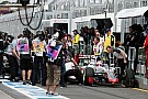 Grosjean and Haryanto collide in Melbourne pitlane