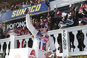 NASCAR Cup Race report Ryan Blaney and the Wood Brothers win at Pocono in thrilling finish