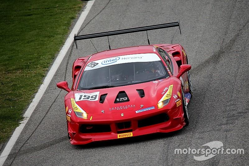 Lu se lleva la primera carrera de la Ferrari Challenge North America en Mugello