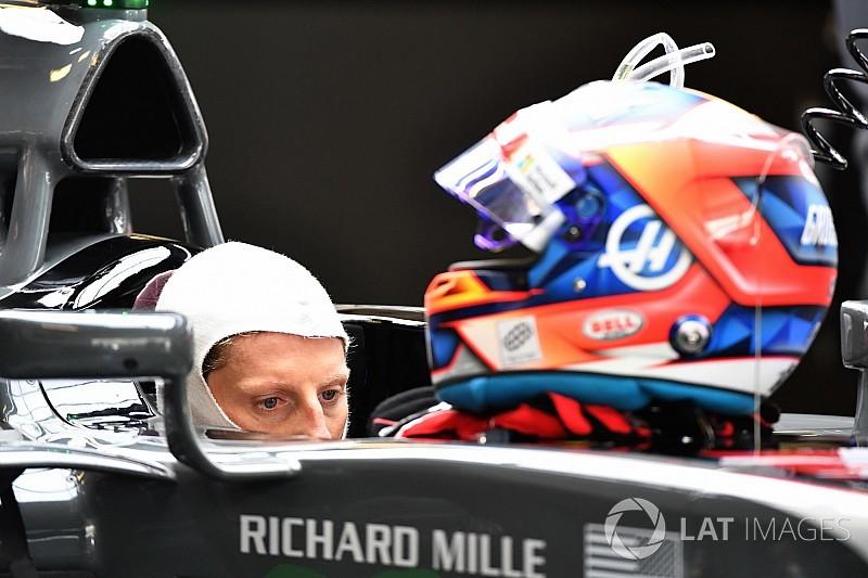 Grosjean mostró su casco 2018