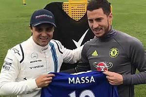 """Fórmula 1 Últimas notícias Vídeo: Massa e astro do Chelsea fazem duelo """"na pressão"""""""