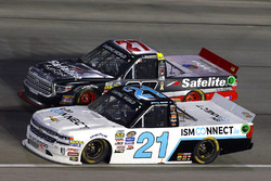 Johnny Sauter, GMS Racing Chevrolet and Ben Rhodes, ThorSport Racing Toyota