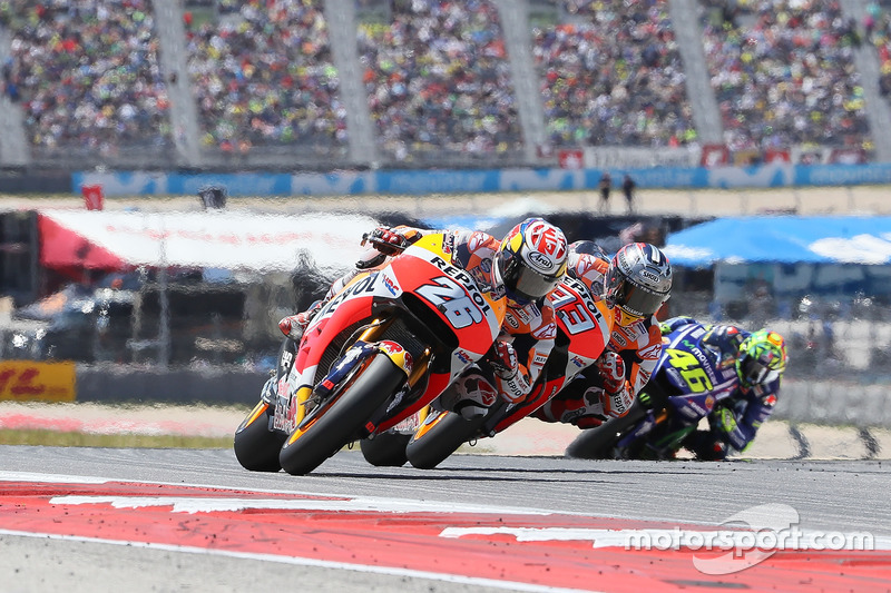 Dani Pedrosa, Repsol Honda Team, Marc Márquez, Repsol Honda Team, Valentino Rossi, Yamaha Factory Racing