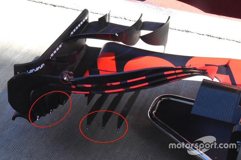 Red Bull Racing RB13 detalle de ala delantera