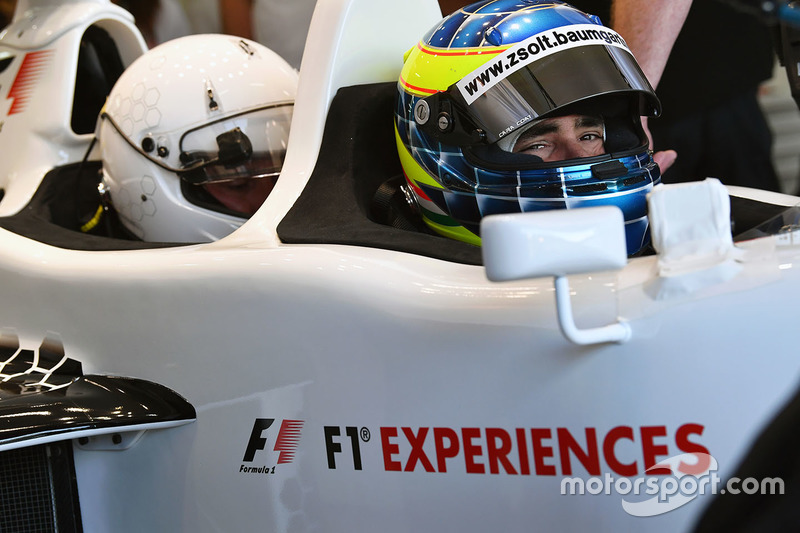 Zsolt Baumgartner, F1 Experiences 2-Seater driver and Will Buxton, NBC TV Presenter