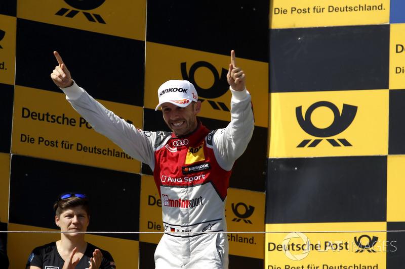 Rene Rast feiert seinen ersten DTM-Sieg