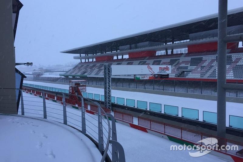 Autódromo del Mugello nevado