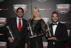 GTD Champions Andrea Reggiani, Alessandro Balzan, Christina Nielsen,
