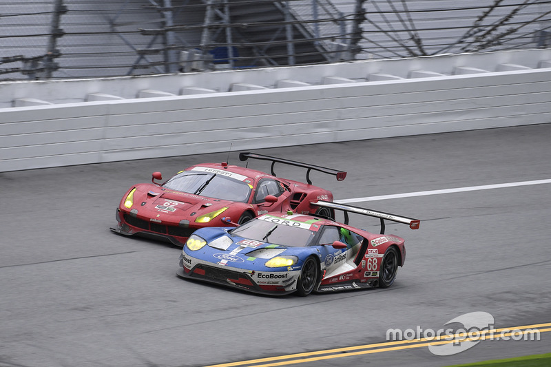 #68 Ford Performance Chip Ganassi Racing Ford GT: Billy Johnson, Stefan Mücke, Olivier Pla, #62 Risi Competizione Ferrari 488 GTE: Toni Vilander, Giancarlo Fisichella, James Calado