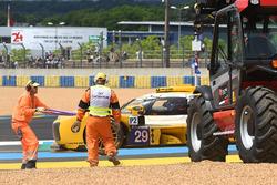 #29 Racing Team Nederland Dallara P217 Gibson: Frits van Eerd in the gravel trap