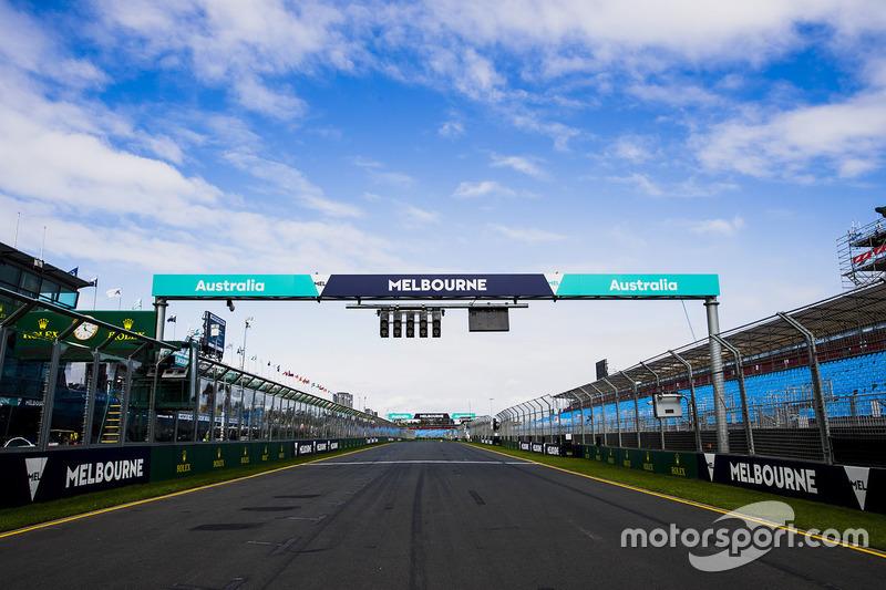 La recta de meta del circuito de Melbourne