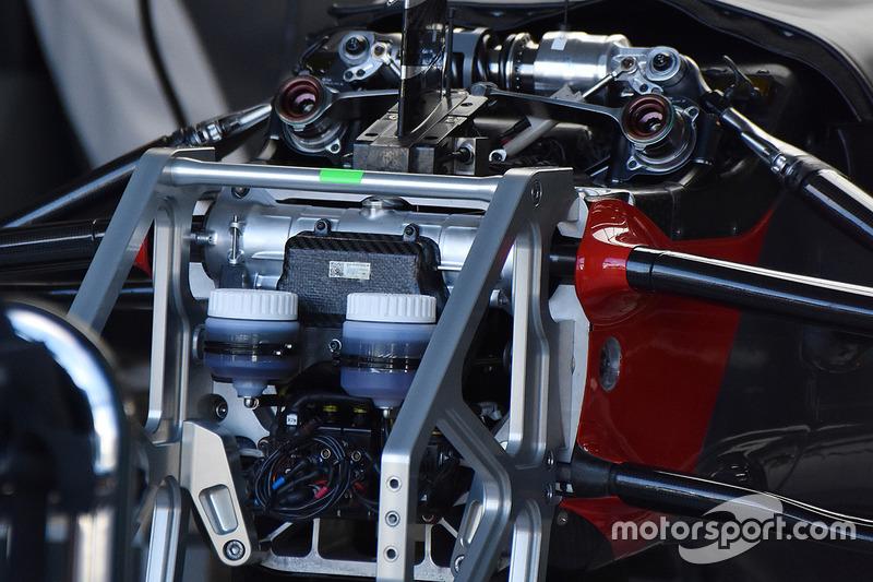 Передняя часть автомобиля Haas F1