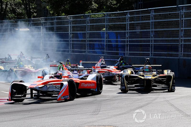 Start: Felix Rosenqvist, Mahindra Racing lider