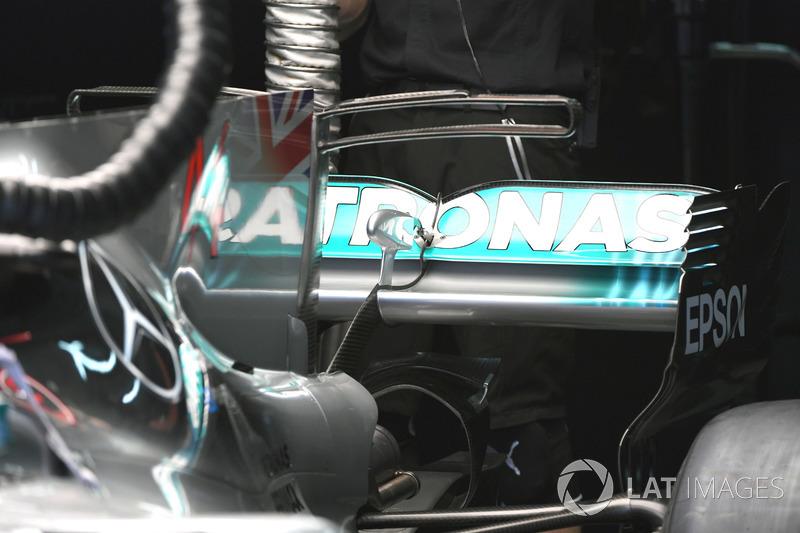 Aileron arrière de la Mercedes F1 W08