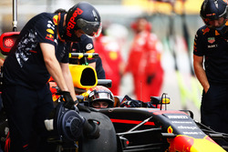 Max Verstappen, Red Bull Racing RB13, in the pit lane