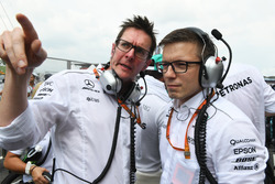 (L to R): Andy Shovlin, Mercedes AMG F1 Chief Engineer and Peter Bonnington, Mercedes AMG F1 Race Engineer