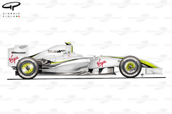 Brawn BGP 001 2009 Melbourne side view