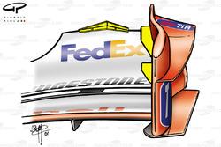Ferrari F2001 (652) 2001 Belgian front wing endplate