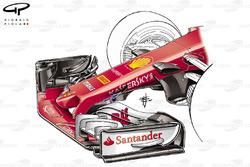 Ferrari SF70H, s duct inlet nose