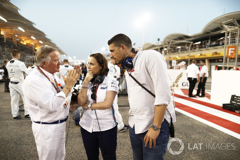 Claire Williams, Deputy Team Principal, Williams Martini Racing, on the grid