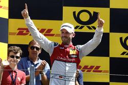Podio: el ganador de la carrera René Rast, Audi Sport Team Rosberg, Audi RS 5 DTM