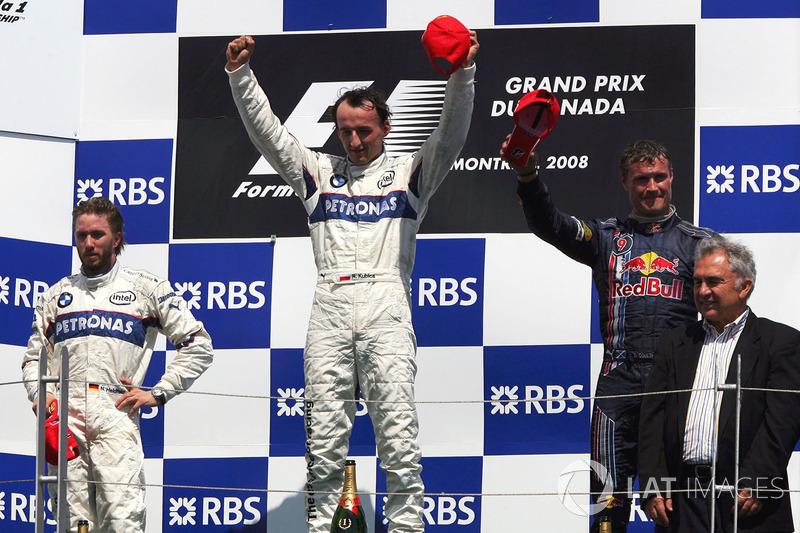 Podyum: Yarış galibi Robert Kubica, BMW Sauber F1, Nick Heidfeld, BMW Sauber F1, third place David C