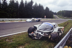 Derek Bell, Stefan Bellof, Porsche 956, crash